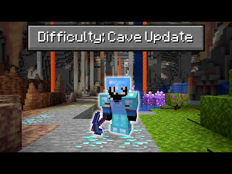 Can You Beat Minecraft on the NEW 1.17 Cave Update? - WadZee