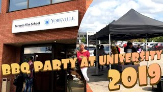 Barbeque Party At Yorkville University, Toronto || Chicken Burgers & Cookies   Yummyyy & Some Gifts