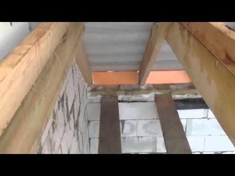 Двухскатная крыша с фронтонами