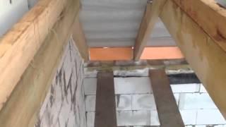 Деревянные перекрытия в доме из газобетона своими руками: расчет, схема монтажа, видео инструкция