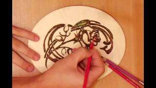 How To Burn A Pattern Of A Flower On Wood