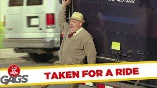 Disabled Man Taken for a Ride Prank