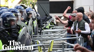 Rightwing protesters clash with police in London