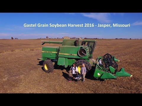 women in agriculture gastel grain soybean harvest john deere 7720 titan 2 combine dji phantom 3