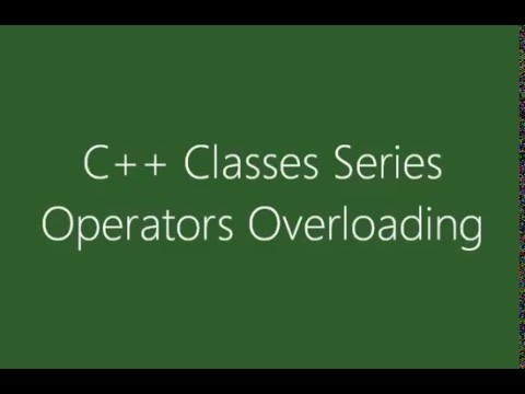 C++ Operators Overloading