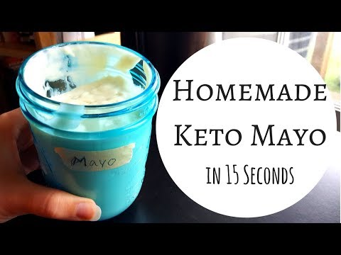 Homemade Mayo in 15 SECONDS | Using the Immersion Blender | Keto Low Carb Paleo