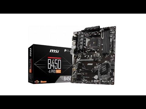 Материнська плата MSI B450-A Pro Max (sAM4, AMD B450, PCI-Ex16)