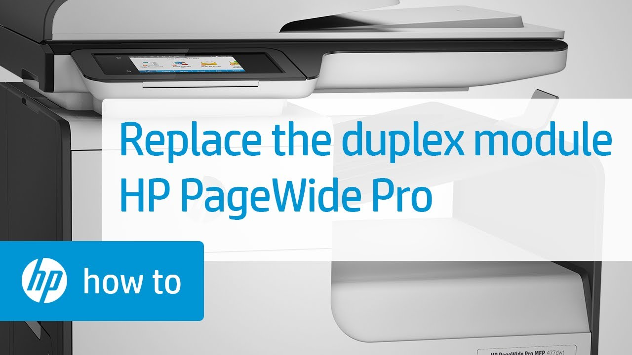 Removing and Replacing the Duplex Module - HP PageWide Pro Printers | HP  Printers | HP