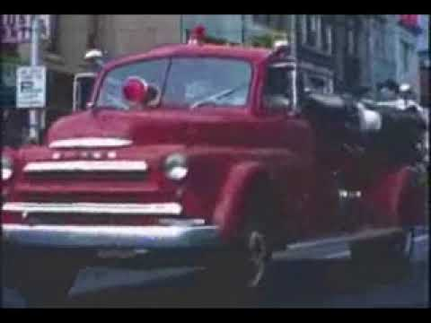 1967 - Schuylkill County Firefighters Convention Parade, Pottsville (PA) - Yorkville Hose Video