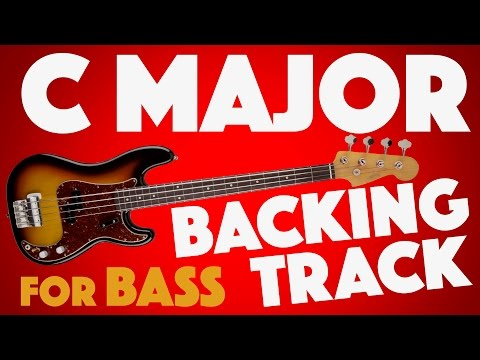 Download Youtube: C Major (Ionian) Backing Track For Bass