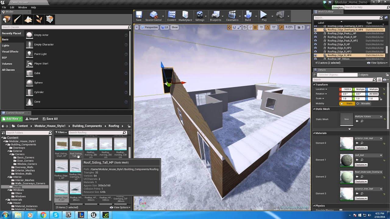 Modular Home Quick Kit Unreal Engine Forums