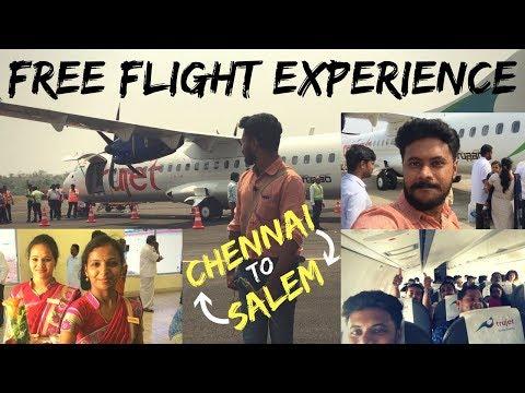 Chennai to Salem - Flight Experience || Free Flight - Casual Vlog - 02 || Chennai Vlogger - Tamil