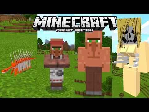 แจก+รีวิว โคตรเจ๋ง !! แอดออนปรสิตที่จะทำให้สิ่งมีชีวิตกลายเป็นไททัน Hallucigenia Addon Minecraft PE