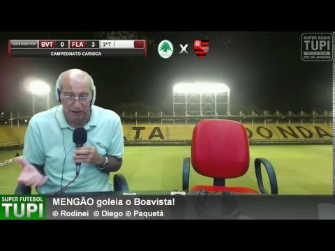 Boa Vista 0 x 3 Flamengo - 4ª Rodada - Taça Rio - 07/03/2018 - AO VIVO