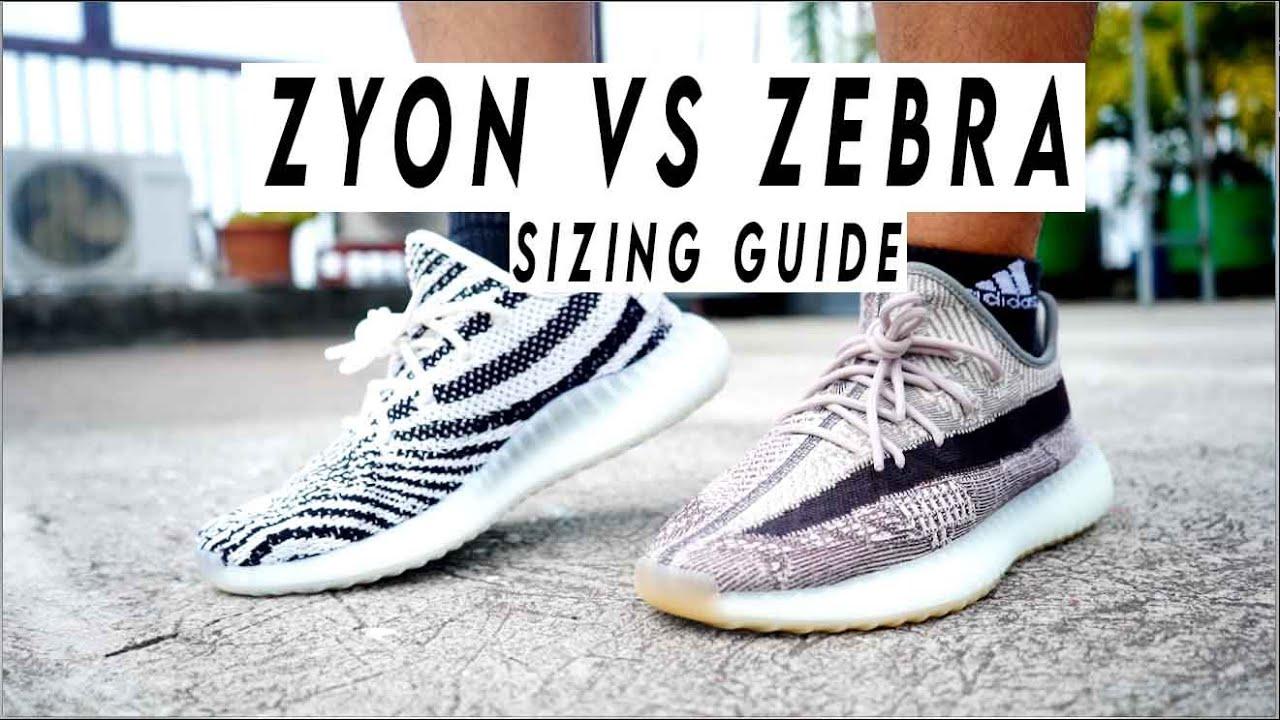 yeezy zebra sizing