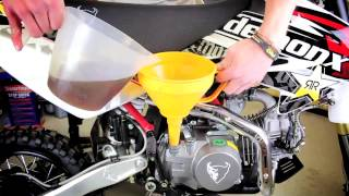 pitbikedirect how to oil change