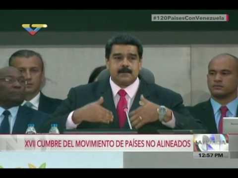 Nicolás Maduro recibe Presidencia del MNOAL, discurso completo, Cumbre en Margarita