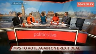 BBC Politics Live 12/03/2019 MPS TO VOTE AGAIN ON BREXIT DEAL