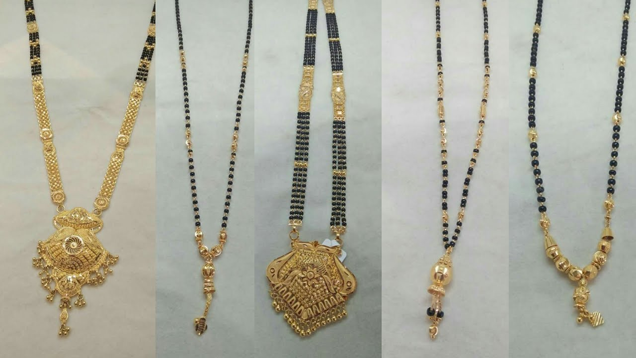 6dc1bdbb3c1d3 Latest Light Weight Gold Mangalsutra Designs