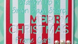 SU SSS Airbrush Christmas Frame Card