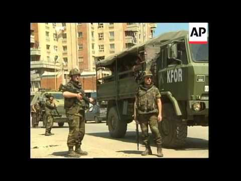 KOSOVO: PEC: K-FOR TROOPS ARREST LOOTERS