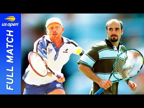 Andre Aggasi vs Boris Becker Full Match | 1995 US Open Semifinal