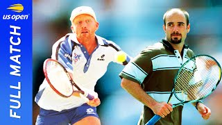 Andre Aggasi vs Boŗis Becker Full Match | 1995 US Open Semifinal