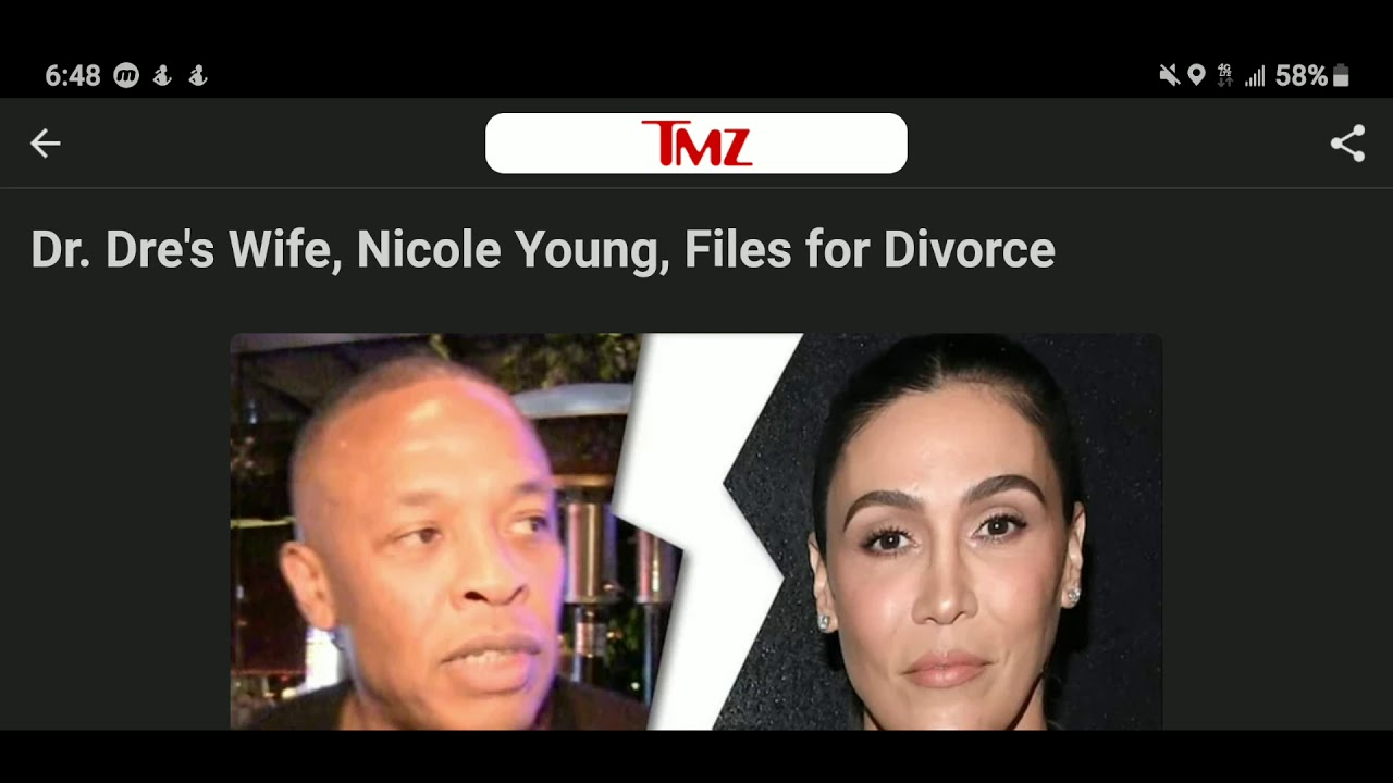 Dr Dre S Wife Nicole Young Files For Divorce Youtube