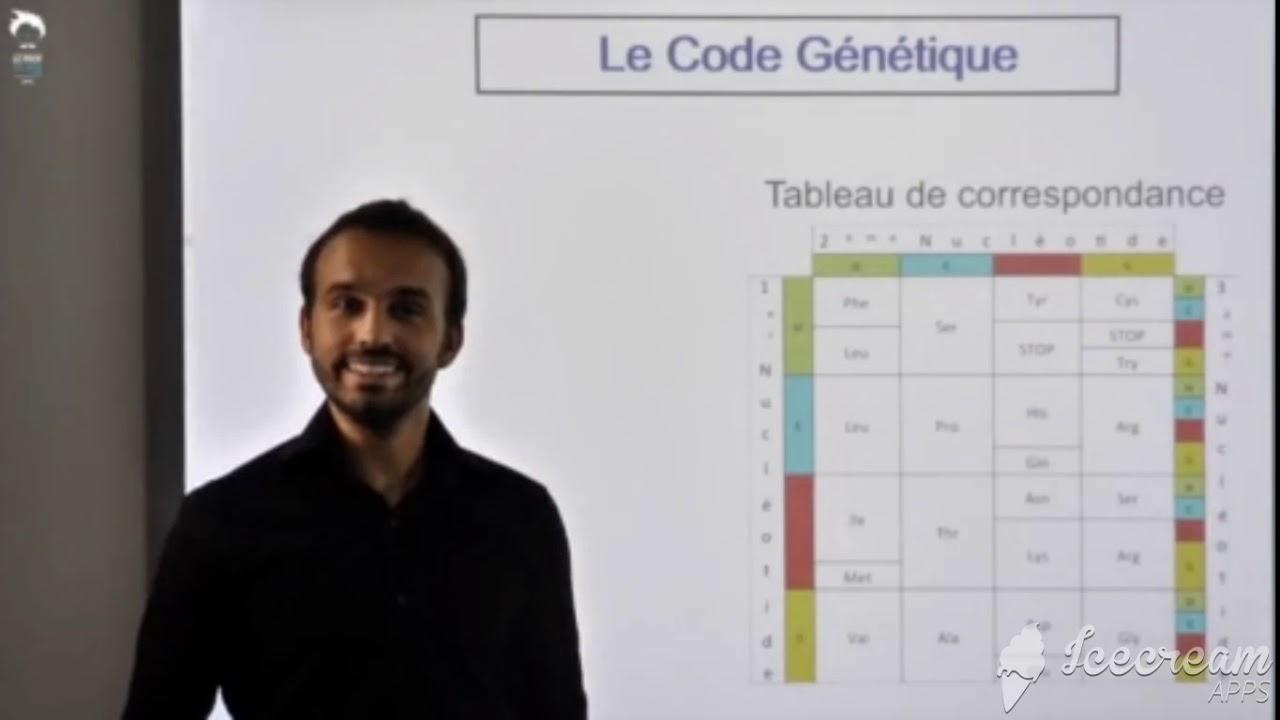 Le Tableau Du Code Genetique Youtube