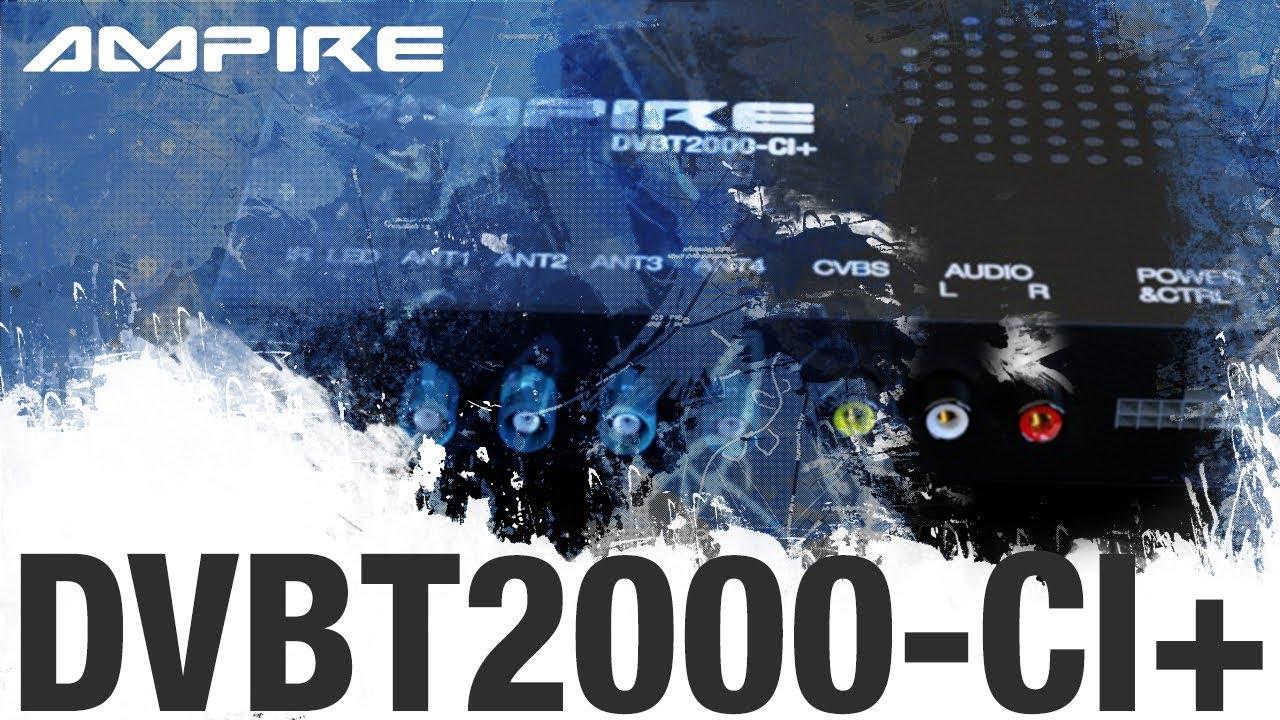 Dvb T2 Quad Receiver Für Das Auto Ampire Dvbt2000 Ci Teaser Youtube
