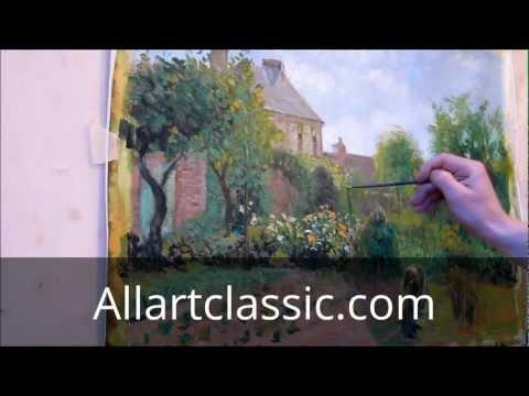 Painting Techniques - Pissarro oil painting reproduction