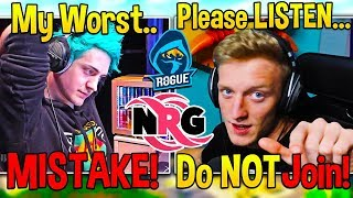 Tfue & Ninja *IMPORTANT* Lesson on Why You Should NEVER Join an ORG!