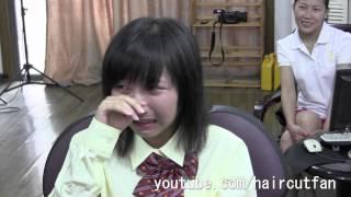 Repeat youtube video 刈り上げJK 4(泣き) ☆ High School Girl Haircut  断髪