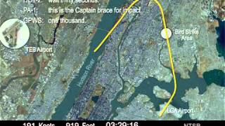 Video Flight Path Ditching of U.S. Airways Fight 1549, Airbus A320, N106US, in the Hudson River download MP3, 3GP, MP4, WEBM, AVI, FLV Juli 2018