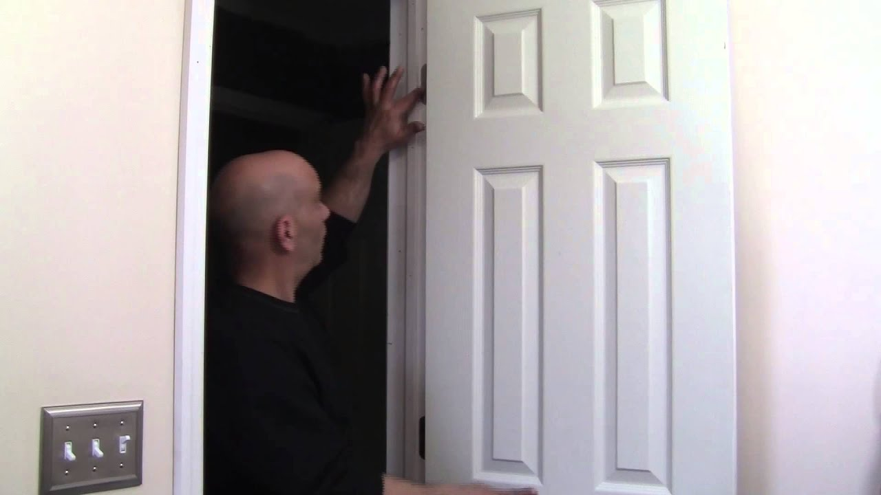 & How to adjust a door when it\u0027s hitting the sides. - YouTube