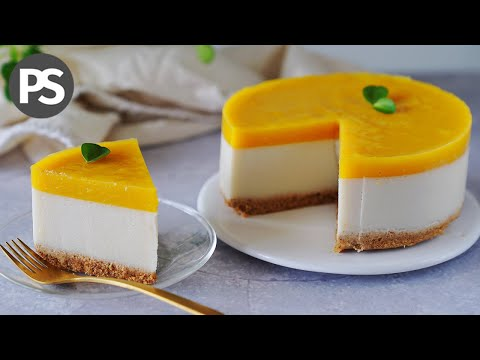 Tarta fría COCO & MANGO | Súper Fácil!!! | PostresSaludables | (veg)