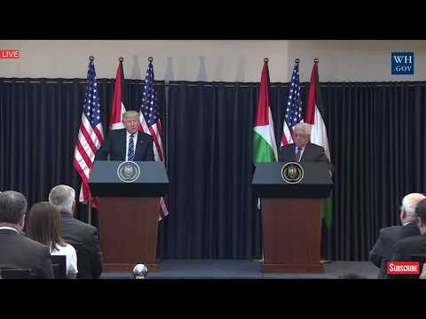 POWERFUL: President Donald Trump Palestine Speech, Press Conference President Abbas,Bethlehem Speech