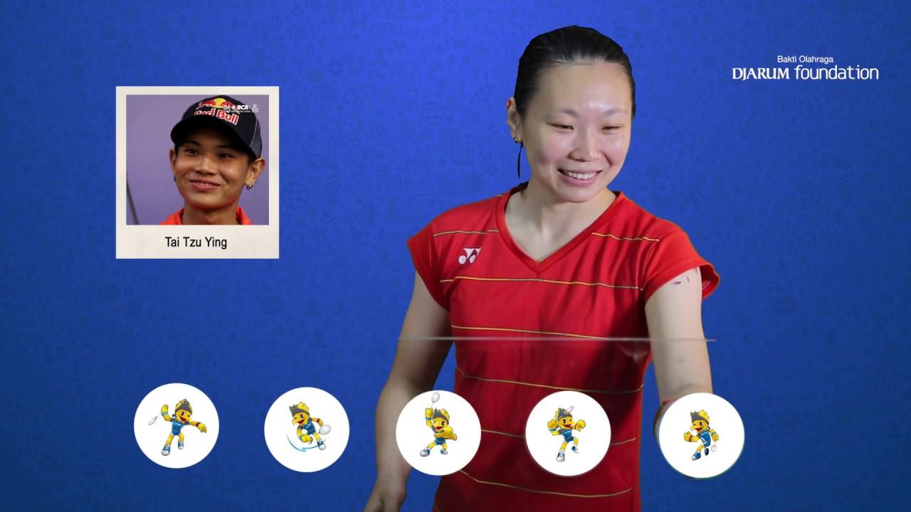 Zhang Beiwen Emoji Players at BCA Indonesia Open 2017
