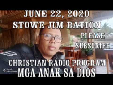 ANG DIOS KAHAYAG / JUNE 08, 2020 STOWE JIM BATION CEBUANO CHRISTIAN PROGRAM from YouTube · Duration:  24 minutes 9 seconds