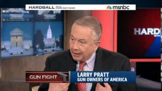 Larry Pratt of Gun Owners of America on Hardball With Chris Matthews - 4/4/2013