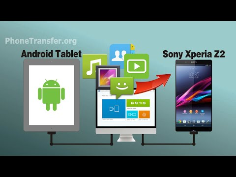 How To Transfer & Sync Data From Android Tablet To Sony Xperia Z2 Or Xperia Z3,Z4