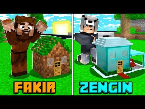 FAKİR EN KÜÇÜK EV VS ZENGİN EN KÜÇÜK EV! 😱 - Minecraft