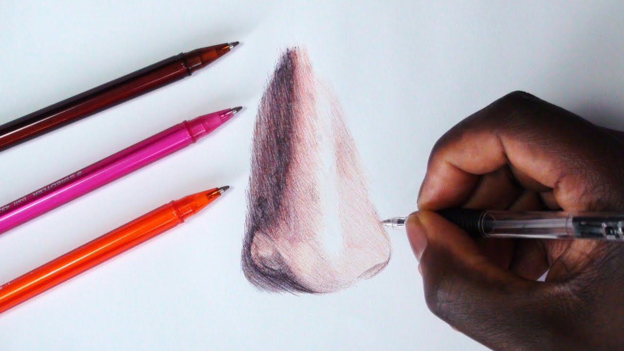 How To Draw A Nose  Blending, Shading And Layering Tutorial  Demoose Art