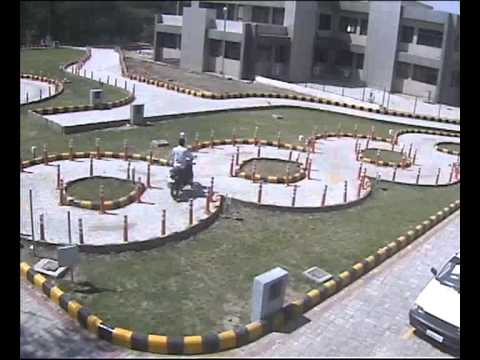 Demo of new automated system for two wheeler Driving test in Gujarat