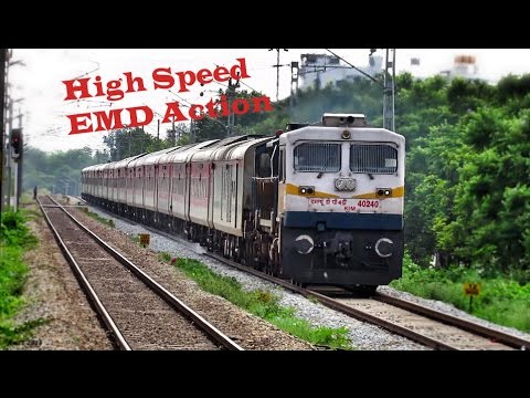 HIGH SPEED Trains of INDIAN RAILWAY - EMD Diesel Locomotives