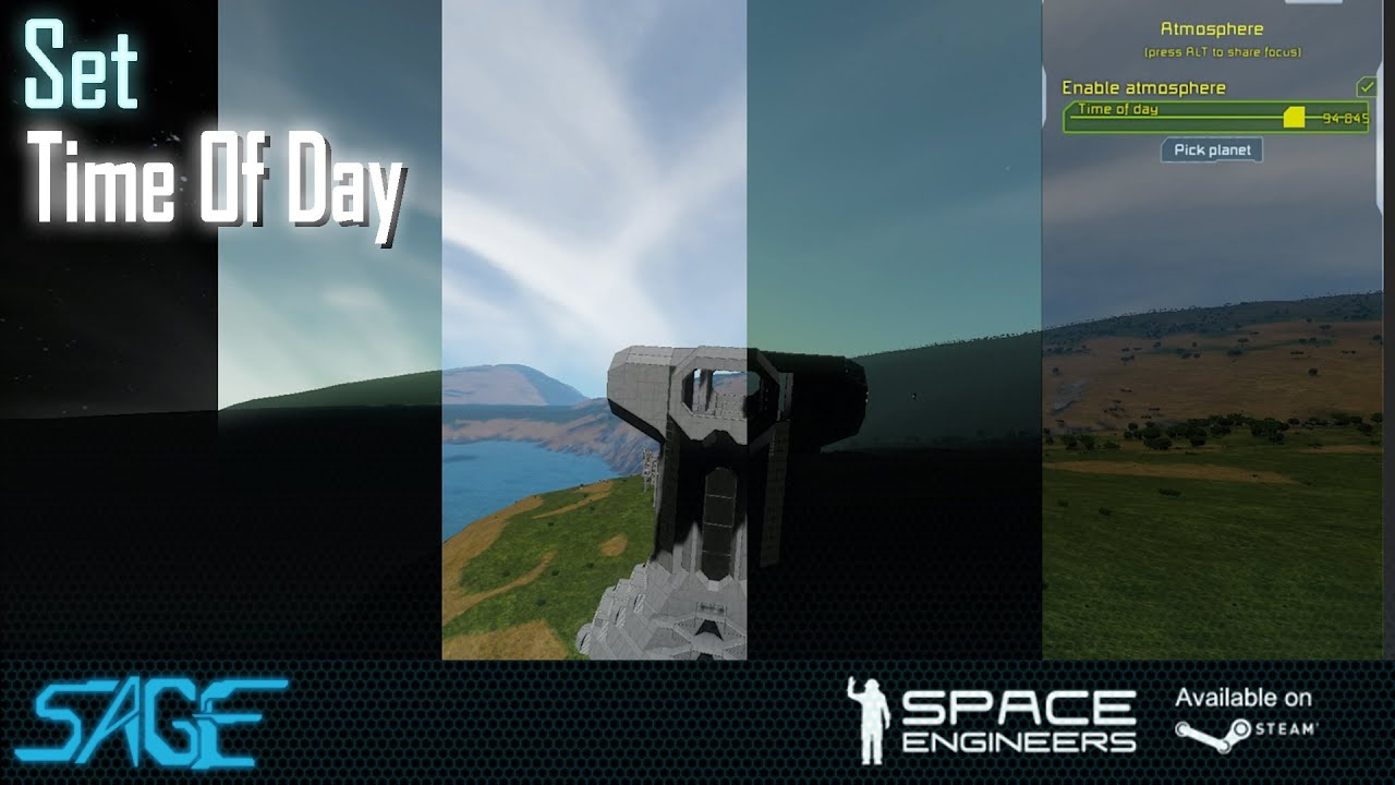 Change time of Day in Space Engineers (In Game)