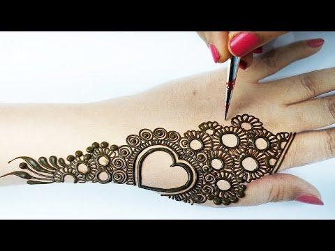 2 आसान फ्लावर मेहँदी लगाना सीखे - Very Easy & Beautiful Mehndi Designs for Backhand by BeautyZing