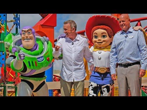 Toy Story Land FULL dedication ceremony with Tim Allen at Walt Disney World