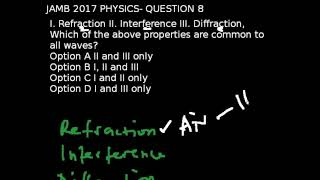 Q8 - JAMB Physics 2017 Past Questions and Answers