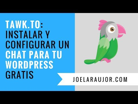 Tawk To Cómo INSTALAR Y Configurar Un CHAT Para Tu Wordpress GRATIS